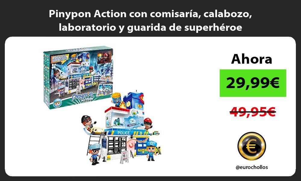 Pinypon Action con comisaría calabozo laboratorio y guarida de superhéroe
