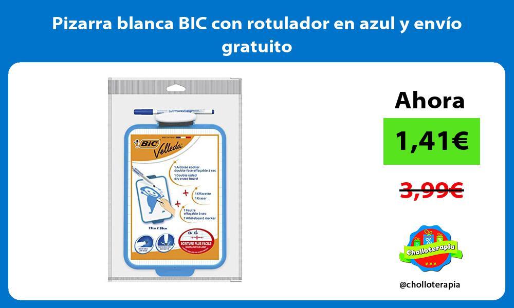 Pizarra blanca BIC con rotulador en azul y envío gratuito