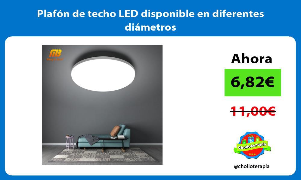 Plafón de techo LED disponible en diferentes diámetros