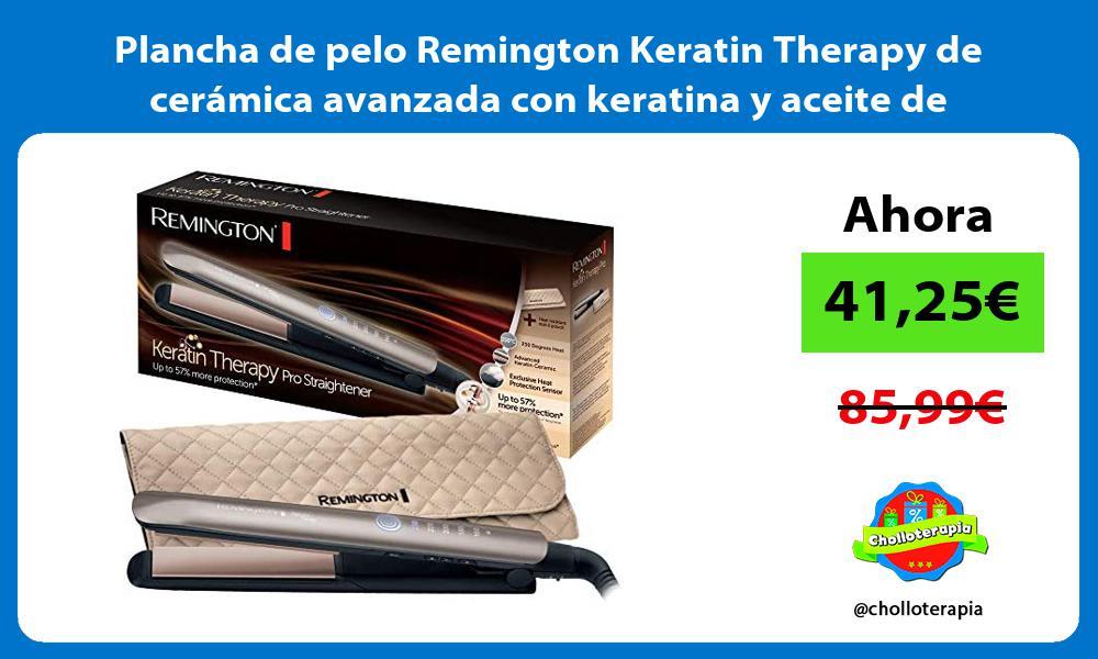 Plancha de pelo Remington Keratin Therapy de cerámica avanzada con keratina y aceite de Almendras
