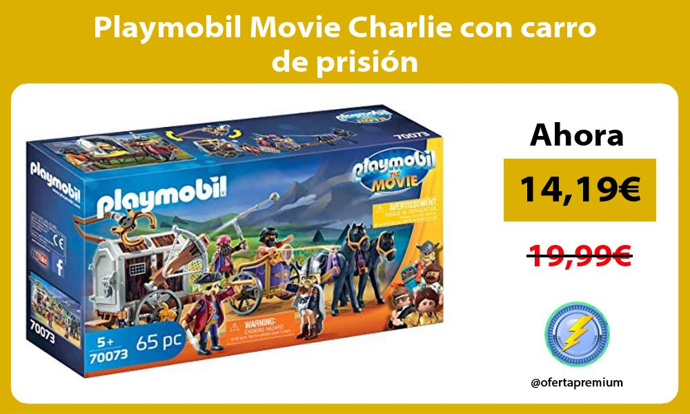 Playmobil Movie Charlie con carro de prisión