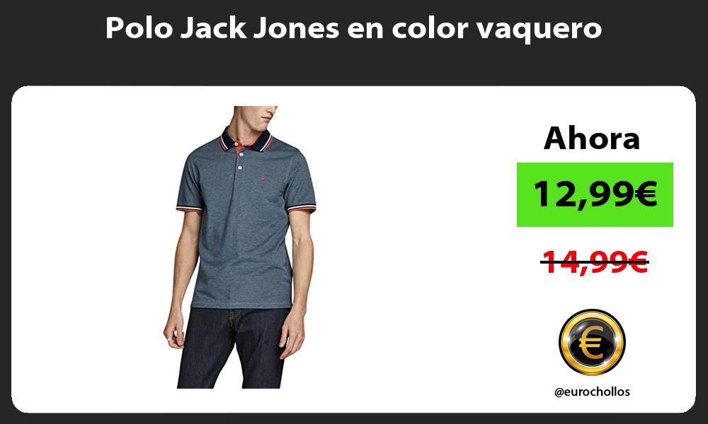 Polo Jack Jones en color vaquero
