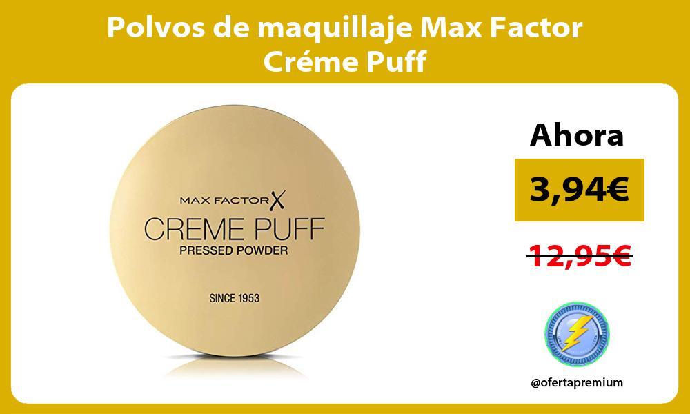 Polvos de maquillaje Max Factor Créme Puff