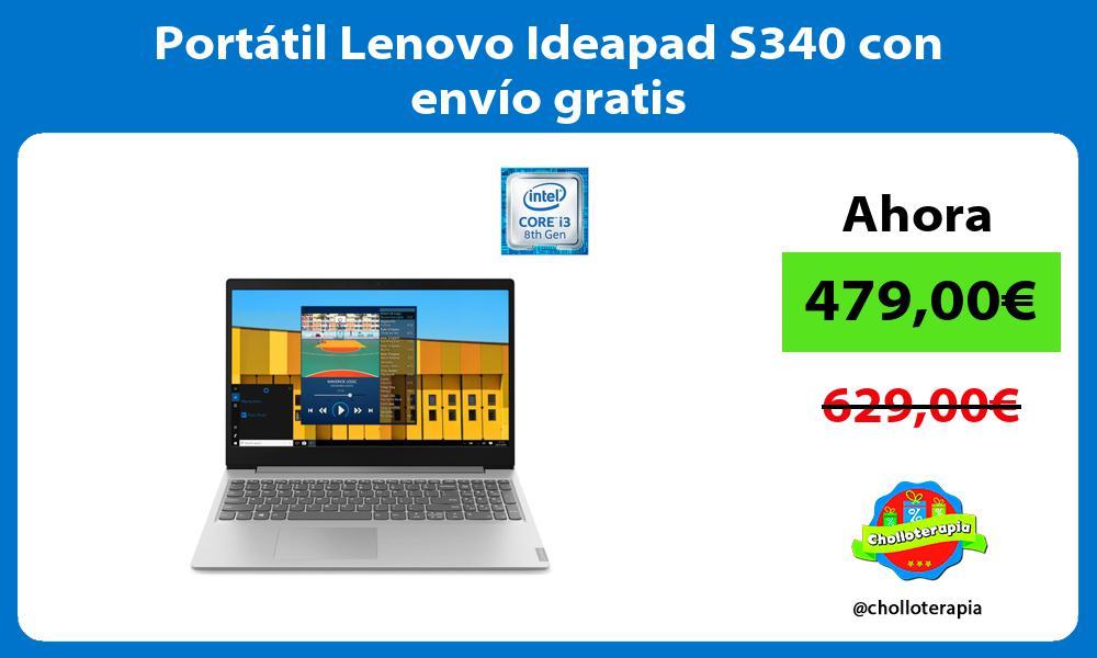 Portátil Lenovo Ideapad S340 con envío gratis