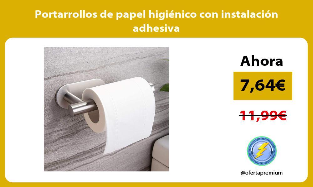 Portarrollos de papel higiénico con instalación adhesiva