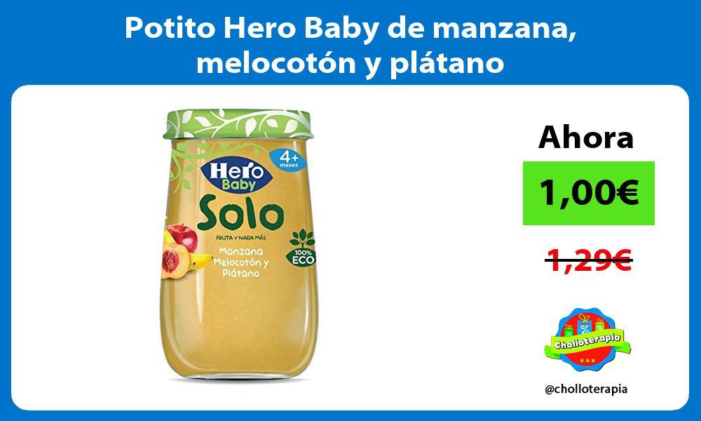 Potito Hero Baby de manzana melocotón y plátano