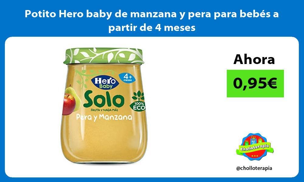 Potito Hero baby de manzana y pera para bebés a partir de 4 meses