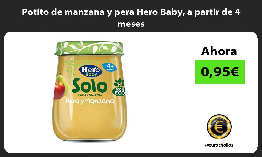 Potito de manzana y pera Hero Baby a partir de 4 meses