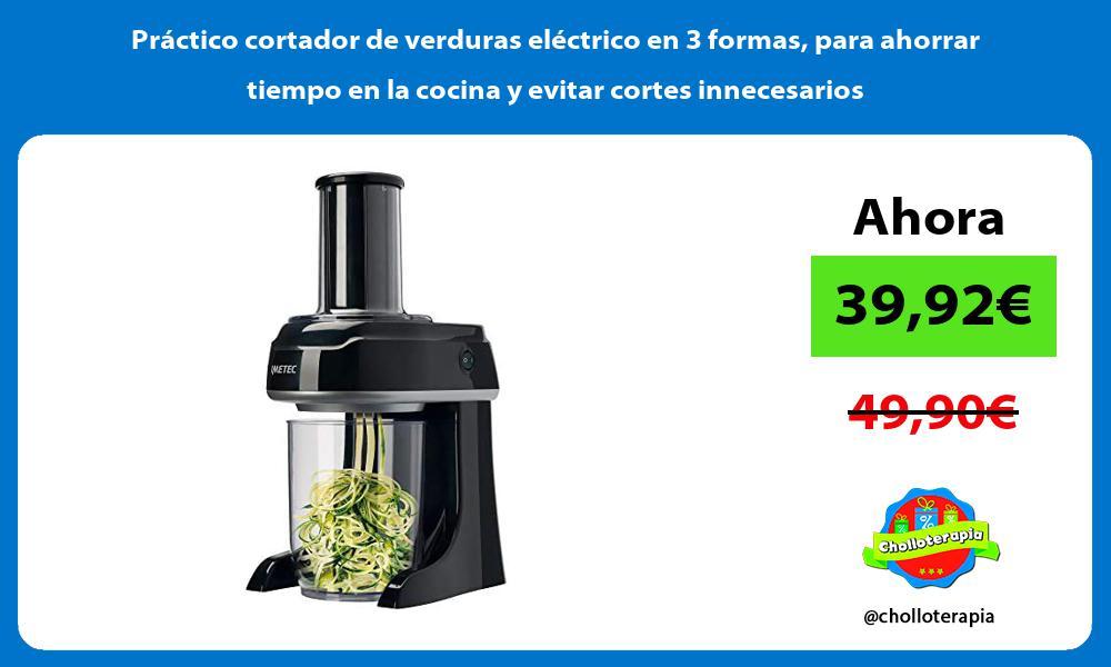 Práctico cortador de verduras eléctrico en 3 formas para ahorrar tiempo en la cocina y evitar cortes innecesarios