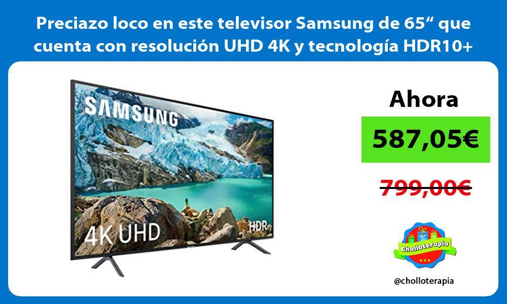 """Preciazo loco en este televisor Samsung de 65"""" que cuenta con resolución UHD 4K y tecnología HDR10"""
