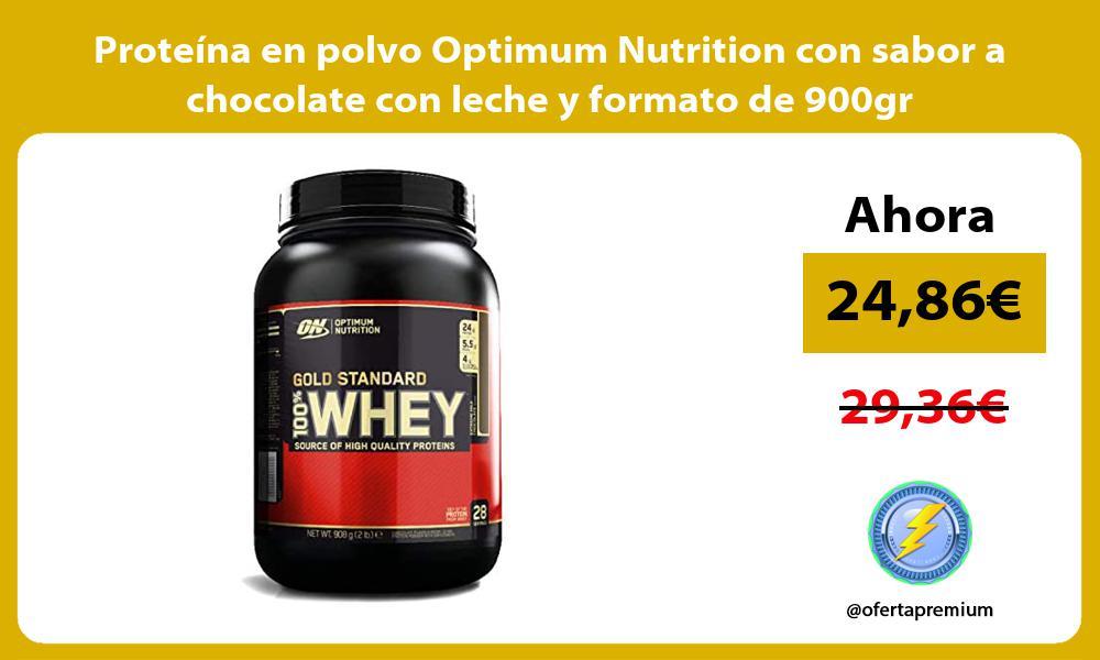 Proteína en polvo Optimum Nutrition con sabor a chocolate con leche y formato de 900gr