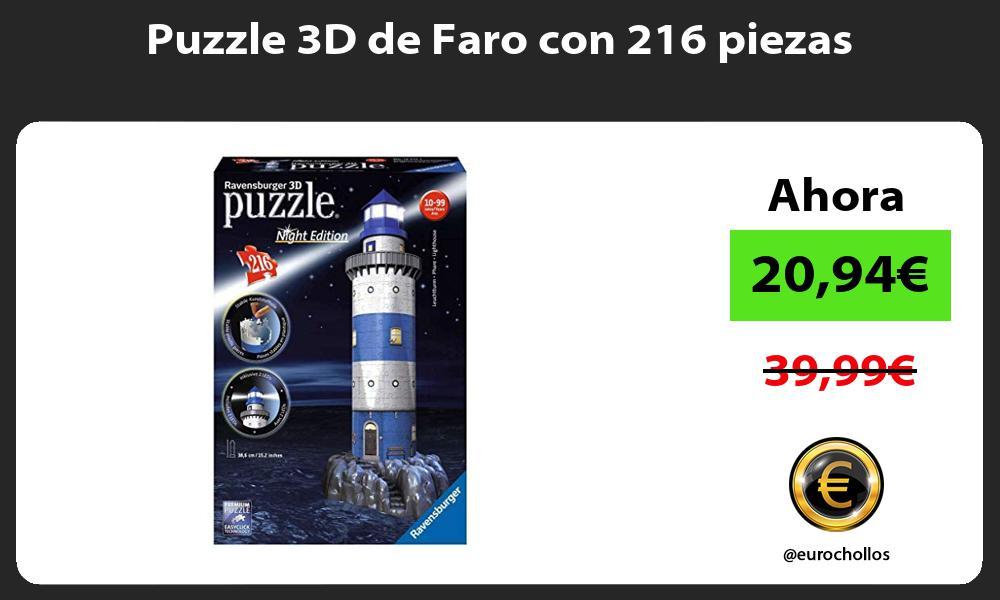 Puzzle 3D de Faro con 216 piezas
