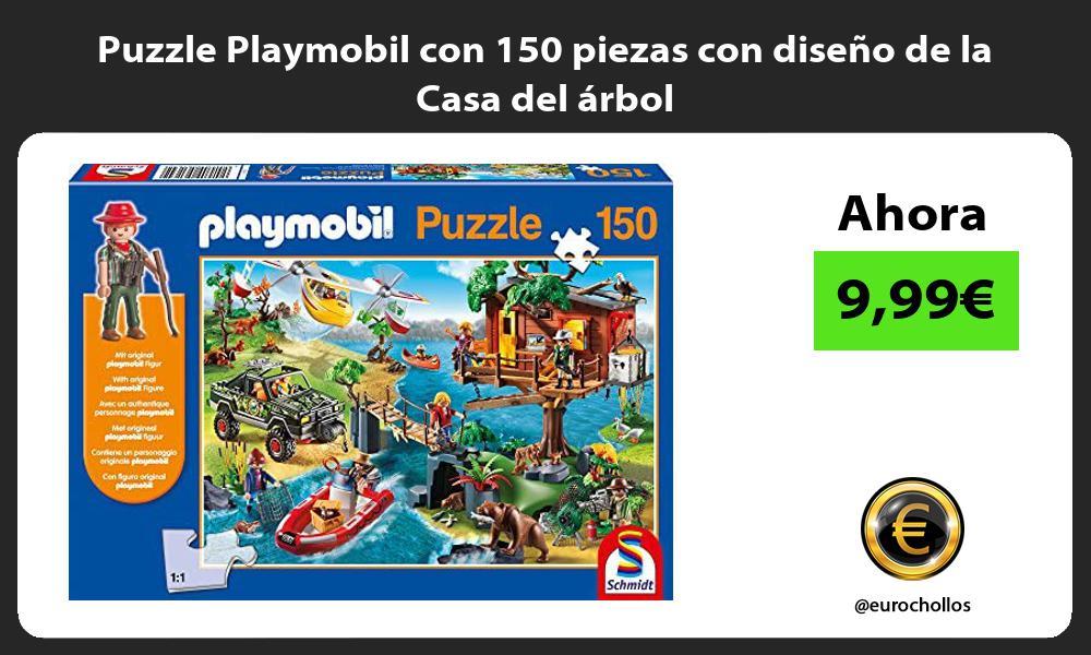 Puzzle Playmobil con 150 piezas con diseño de la Casa del árbol