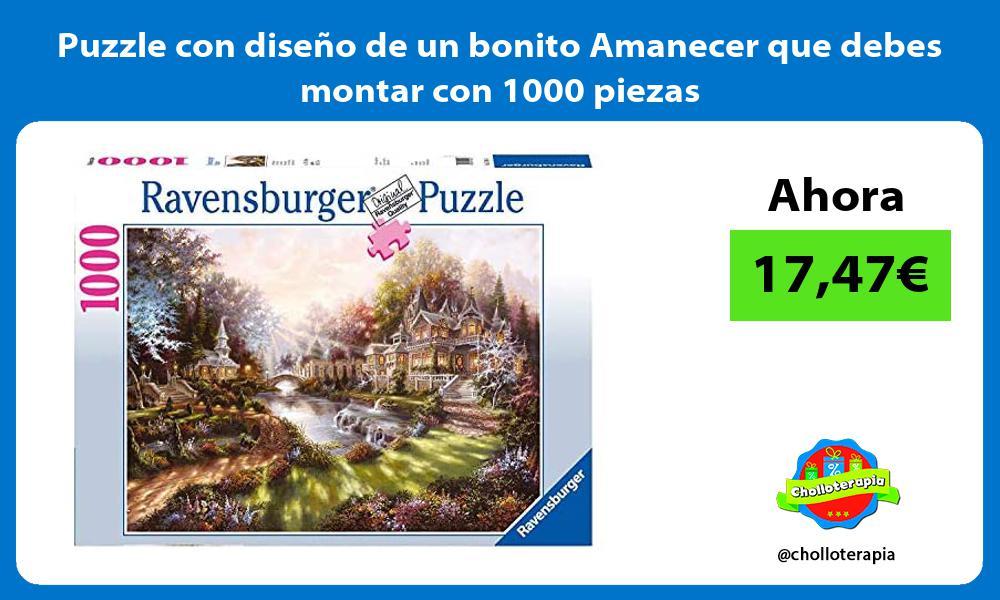 Puzzle con diseño de un bonito Amanecer que debes montar con 1000 piezas