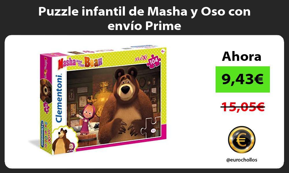 Puzzle infantil de Masha y Oso con envío Prime
