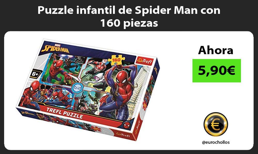 Puzzle infantil de Spider Man con 160 piezas