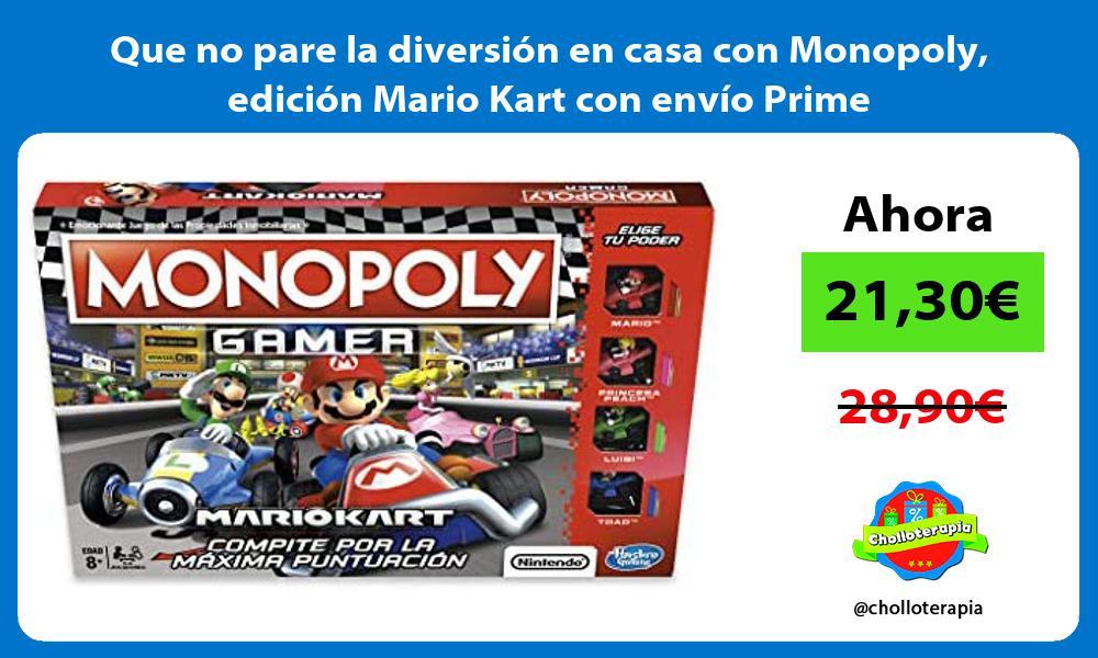 Que no pare la diversión en casa con Monopoly edición Mario Kart con envío Prime