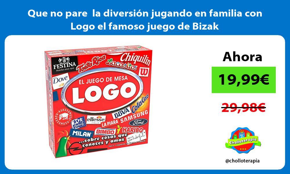Que no pare la diversión jugando en familia con Logo el famoso juego de Bizak