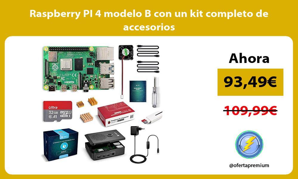 Raspberry PI 4 modelo B con un kit completo de accesorios