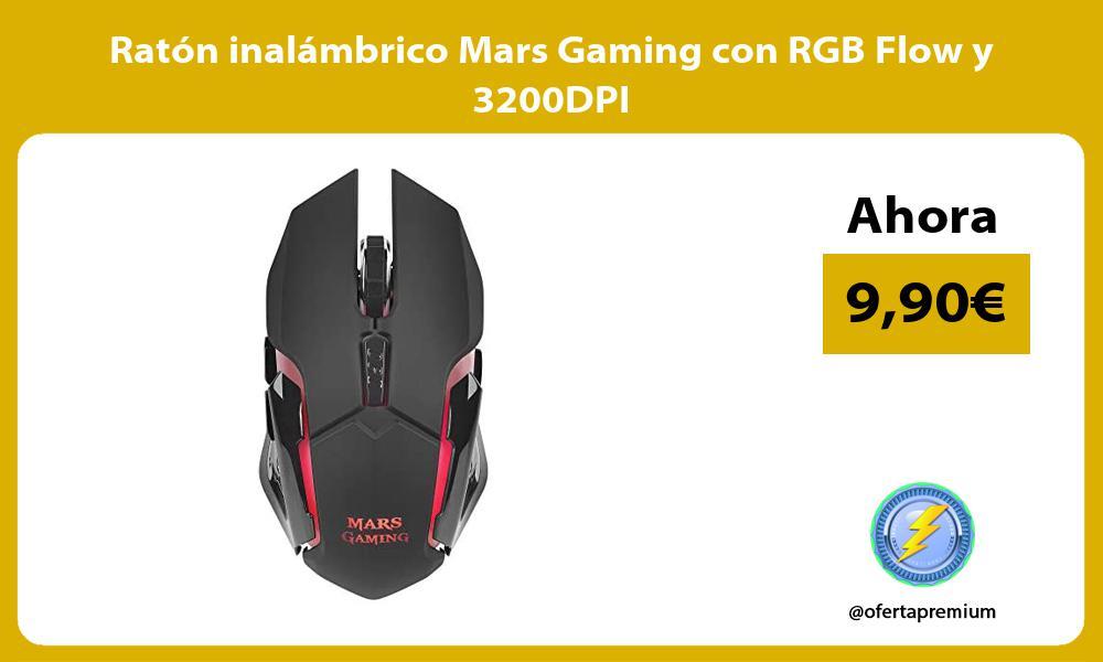 Ratón inalámbrico Mars Gaming con RGB Flow y 3200DPI