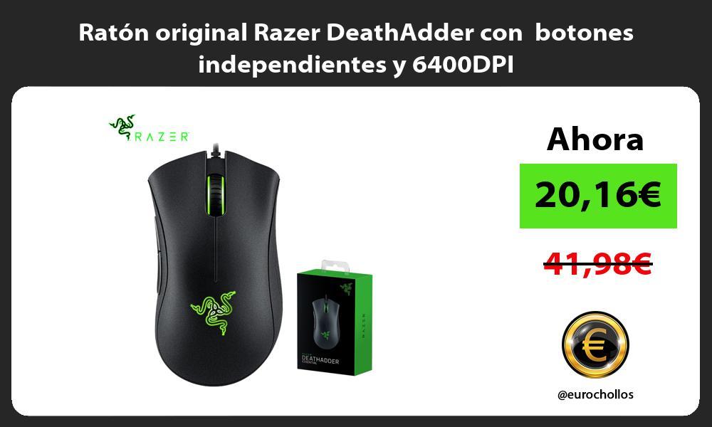 Ratón original Razer DeathAdder con botones independientes y 6400DPI