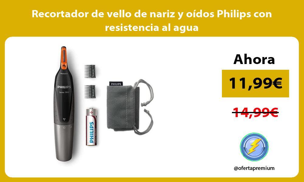 Recortador de vello de nariz y oídos Philips con resistencia al agua
