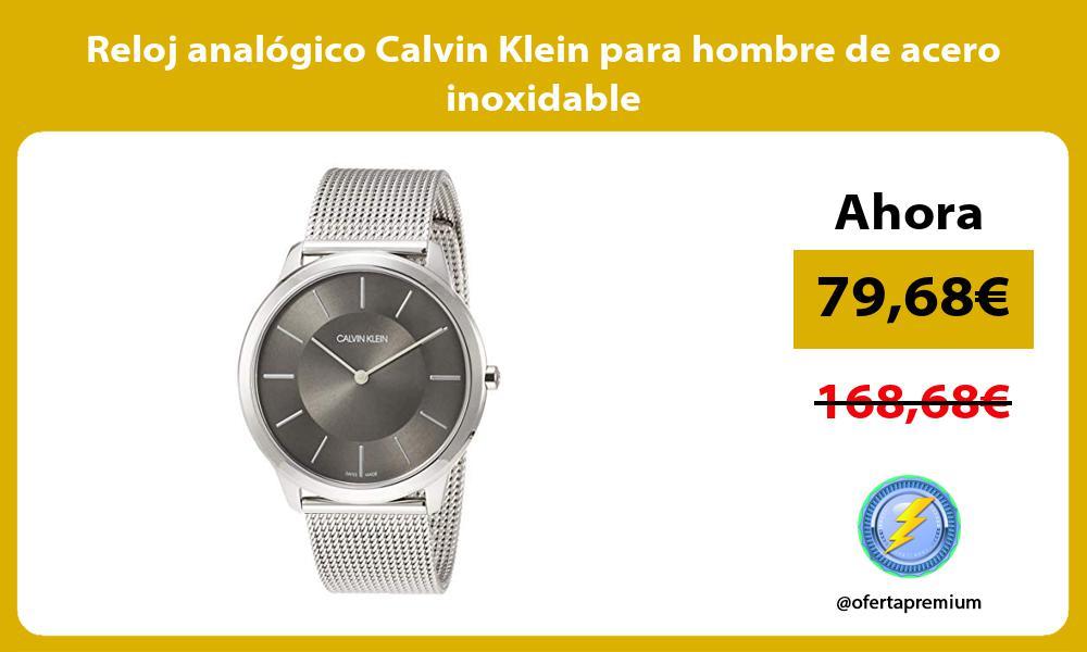 Reloj analógico Calvin Klein para hombre de acero inoxidable