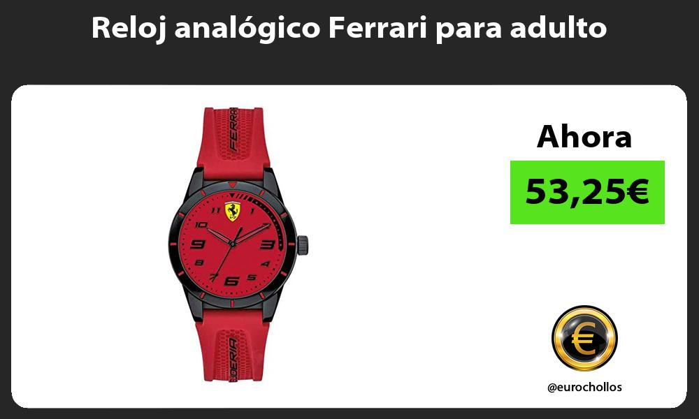 Reloj analógico Ferrari para adulto