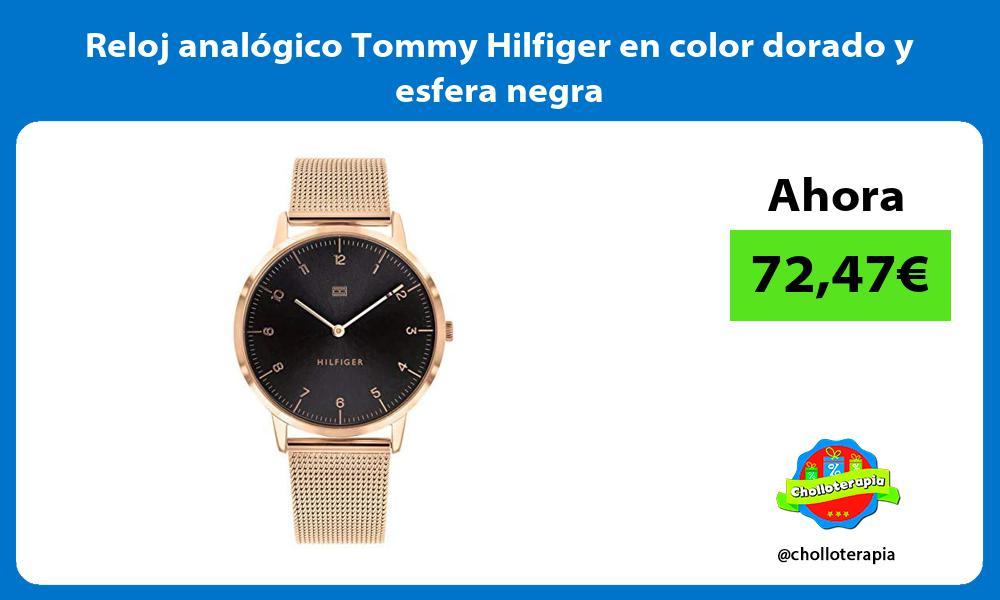Reloj analógico Tommy Hilfiger en color dorado y esfera negra