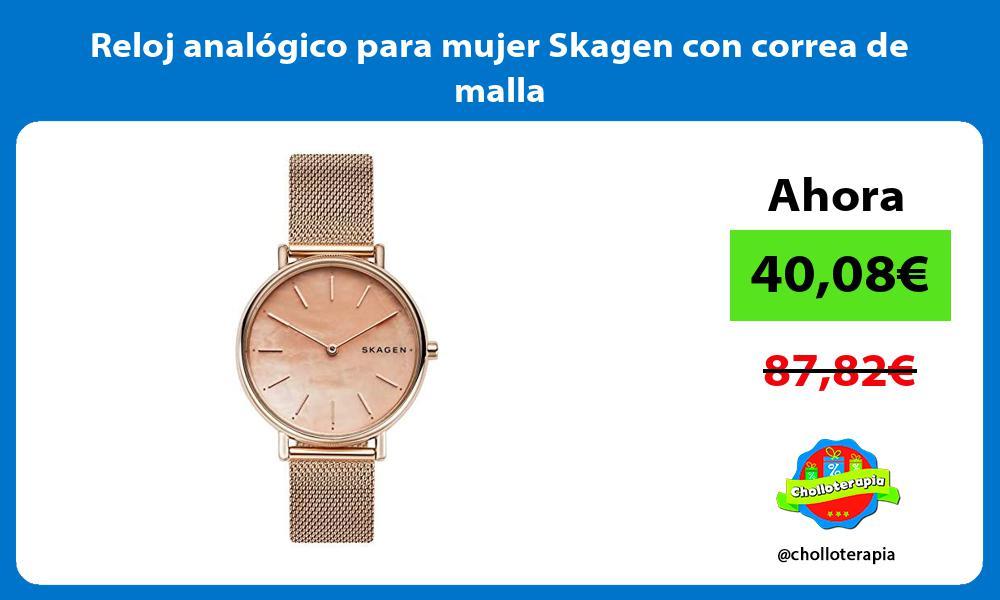 Reloj analógico para mujer Skagen con correa de malla