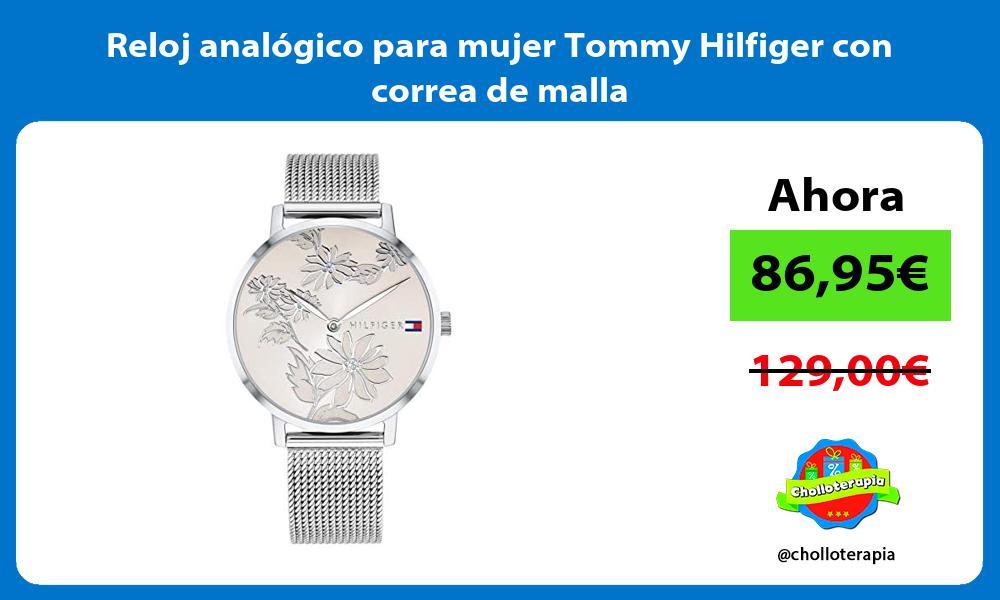 Reloj analógico para mujer Tommy Hilfiger con correa de malla