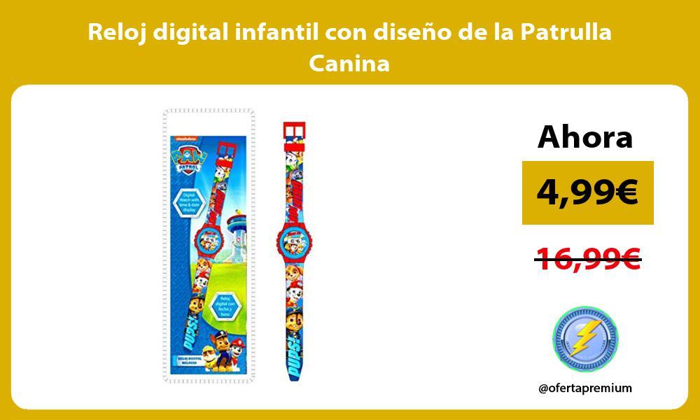 Reloj digital infantil con diseño de la Patrulla Canina