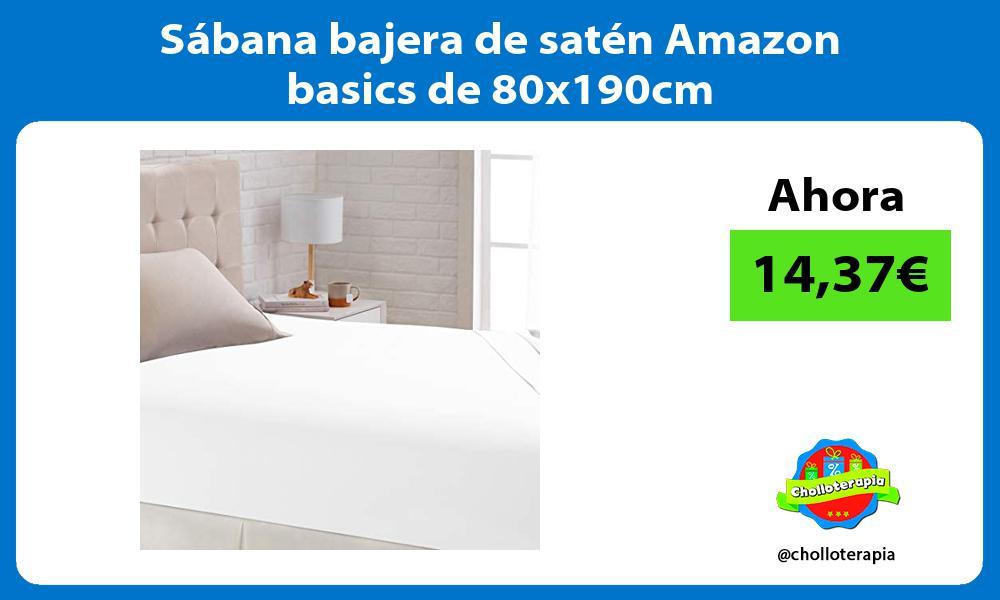 Sábana bajera de satén Amazon basics de 80x190cm