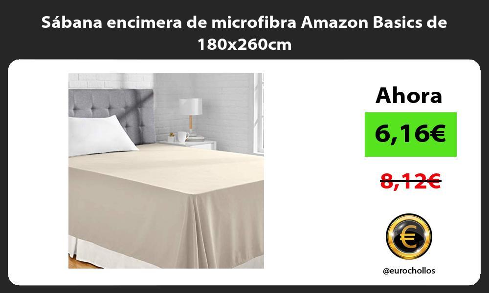 Sábana encimera de microfibra Amazon Basics de 180x260cm
