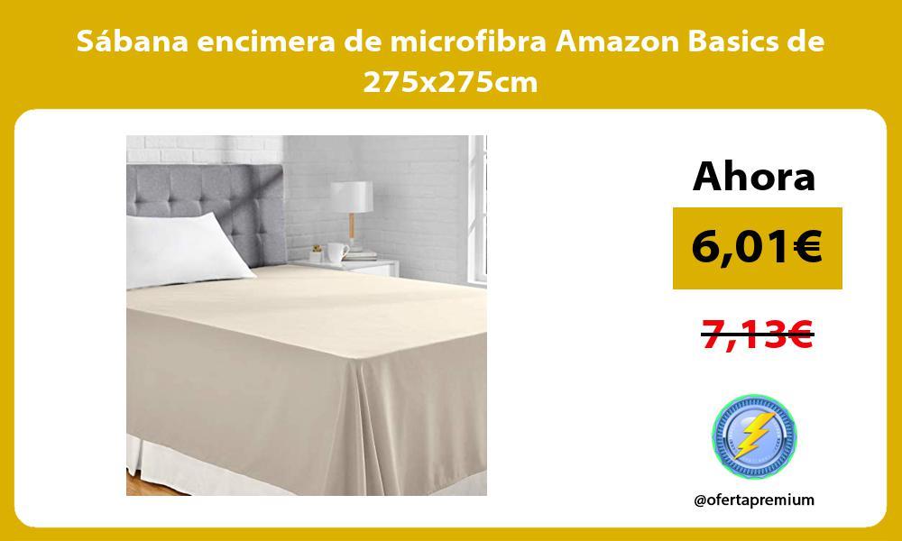 Sábana encimera de microfibra Amazon Basics de 275x275cm