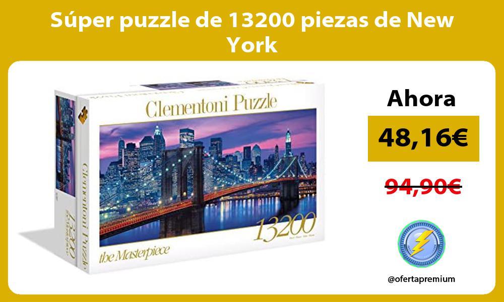 Súper puzzle de 13200 piezas de New York
