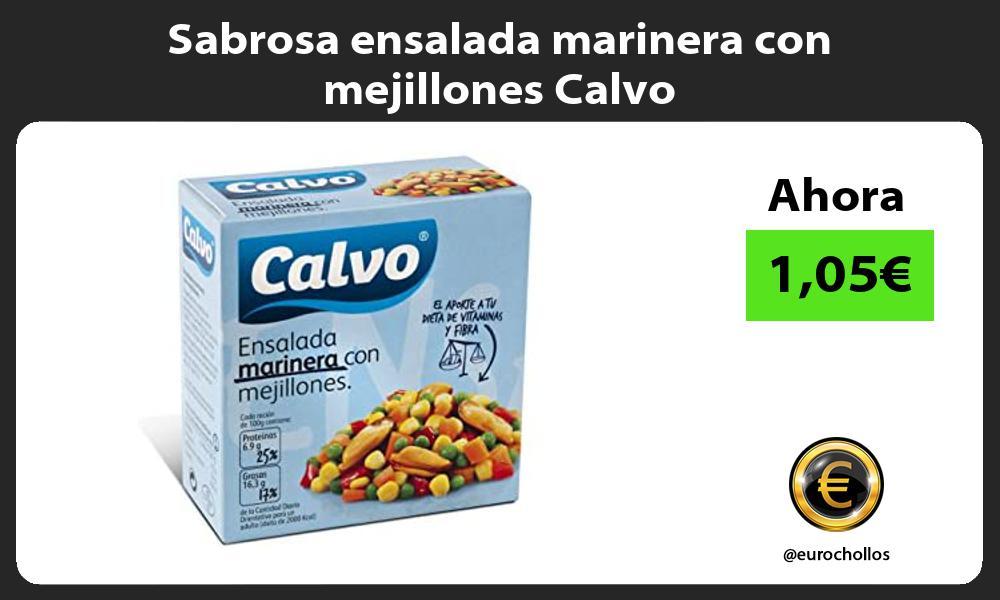 Sabrosa ensalada marinera con mejillones Calvo