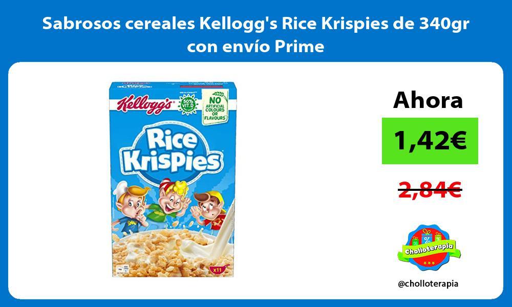 Sabrosos cereales Kelloggs Rice Krispies de 340gr con envío Prime