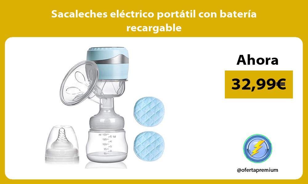Sacaleches eléctrico portátil con batería recargable