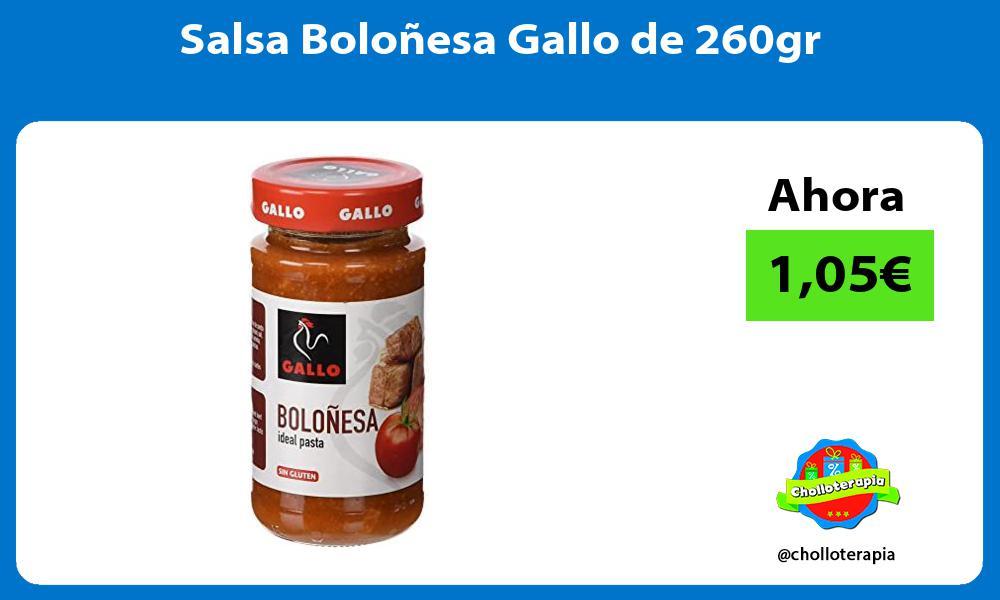 Salsa Boloñesa Gallo de 260gr