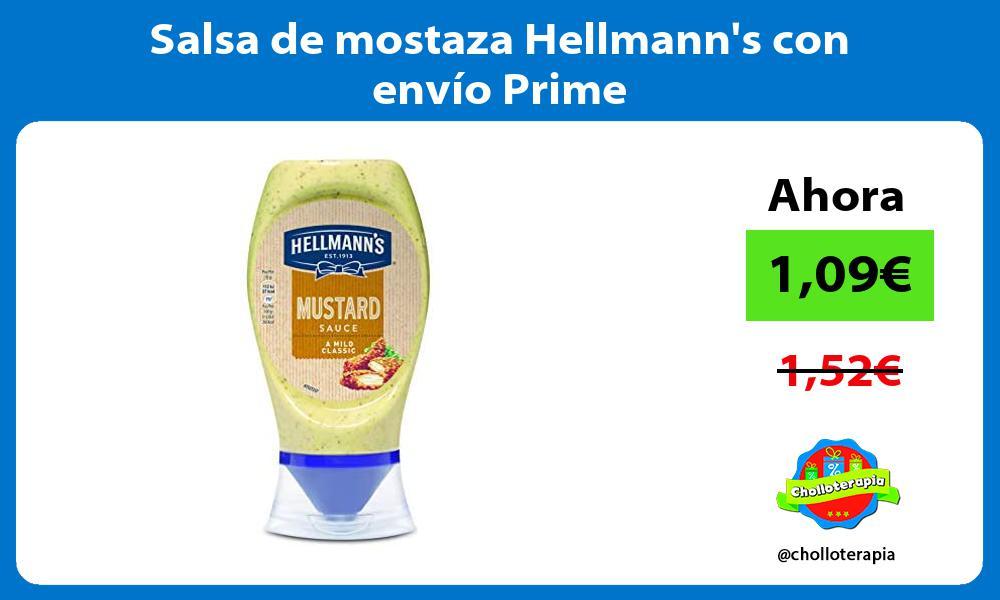Salsa de mostaza Hellmanns con envío Prime