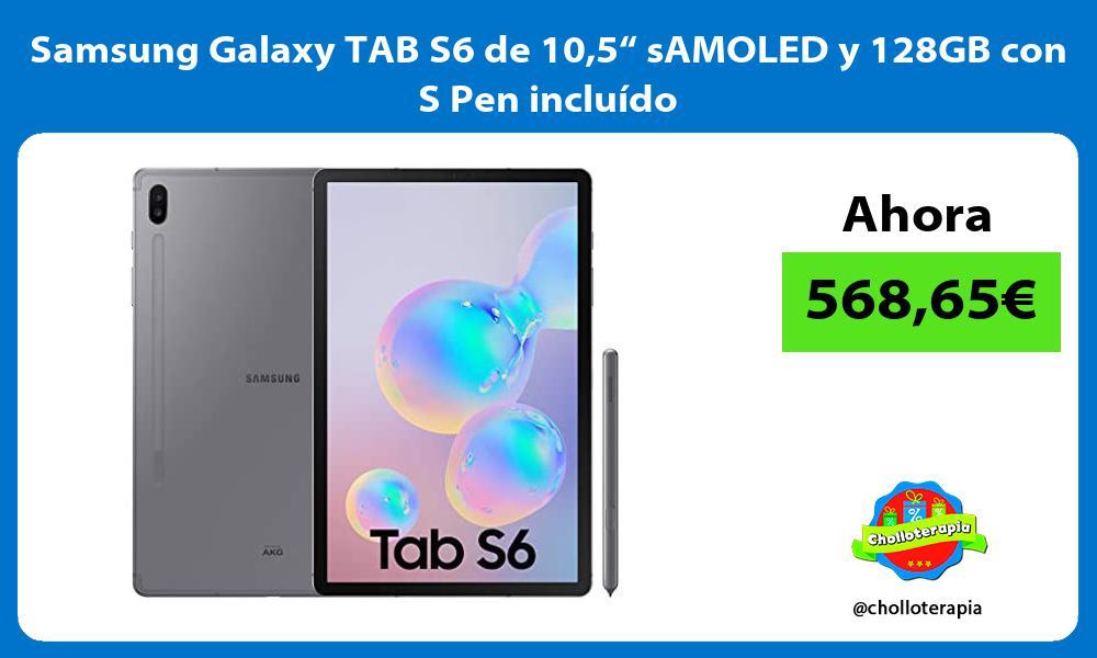 """Samsung Galaxy TAB S6 de 105"""" sAMOLED y 128GB con S Pen incluído"""