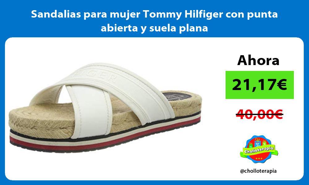 Sandalias para mujer Tommy Hilfiger con punta abierta y suela plana