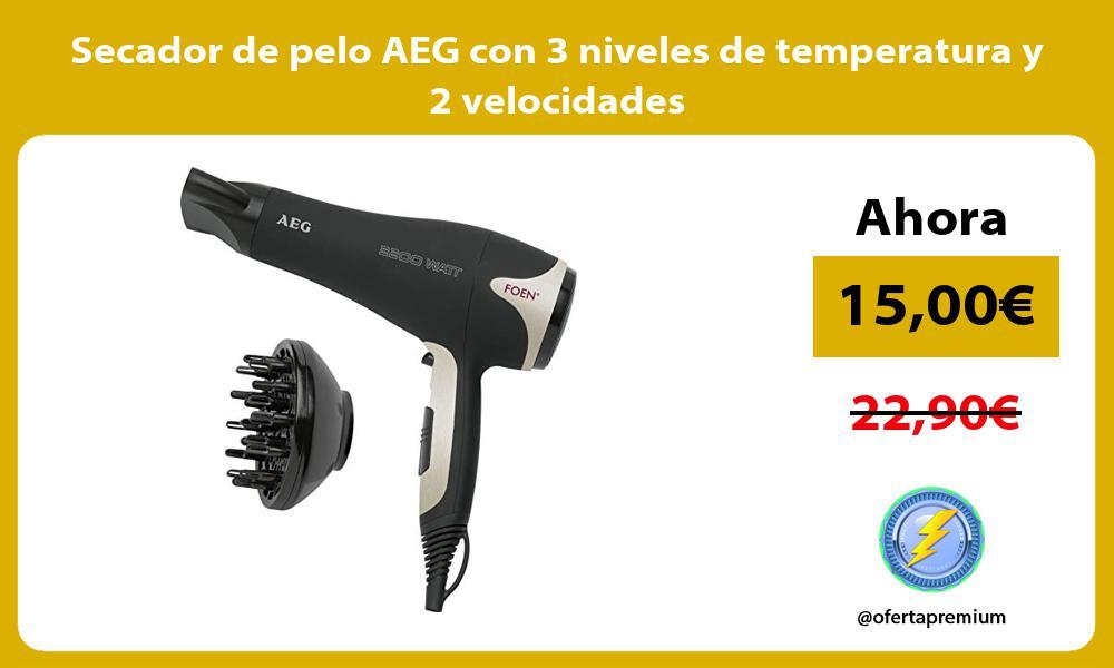 Secador de pelo AEG con 3 niveles de temperatura y 2 velocidades