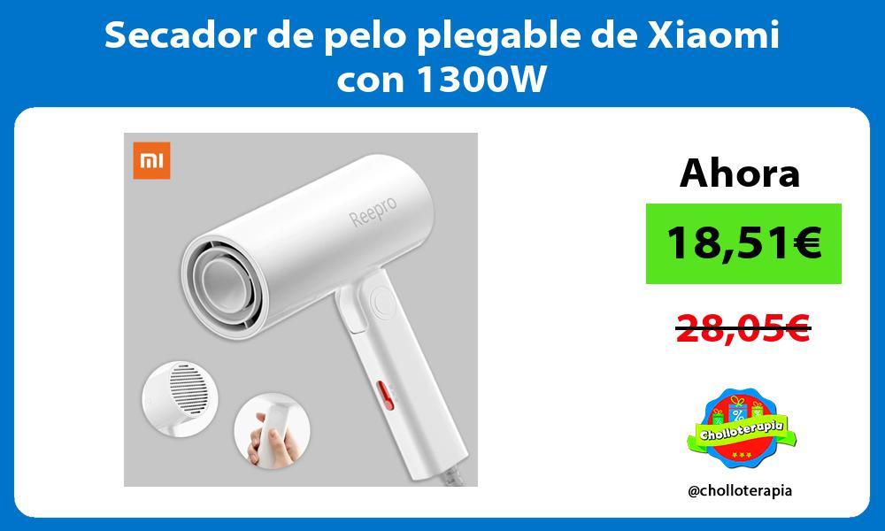 Secador de pelo plegable de Xiaomi con 1300W
