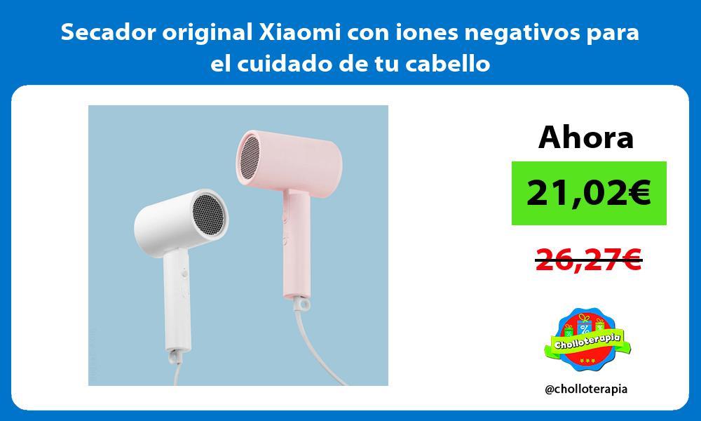 Secador original Xiaomi con iones negativos para el cuidado de tu cabello