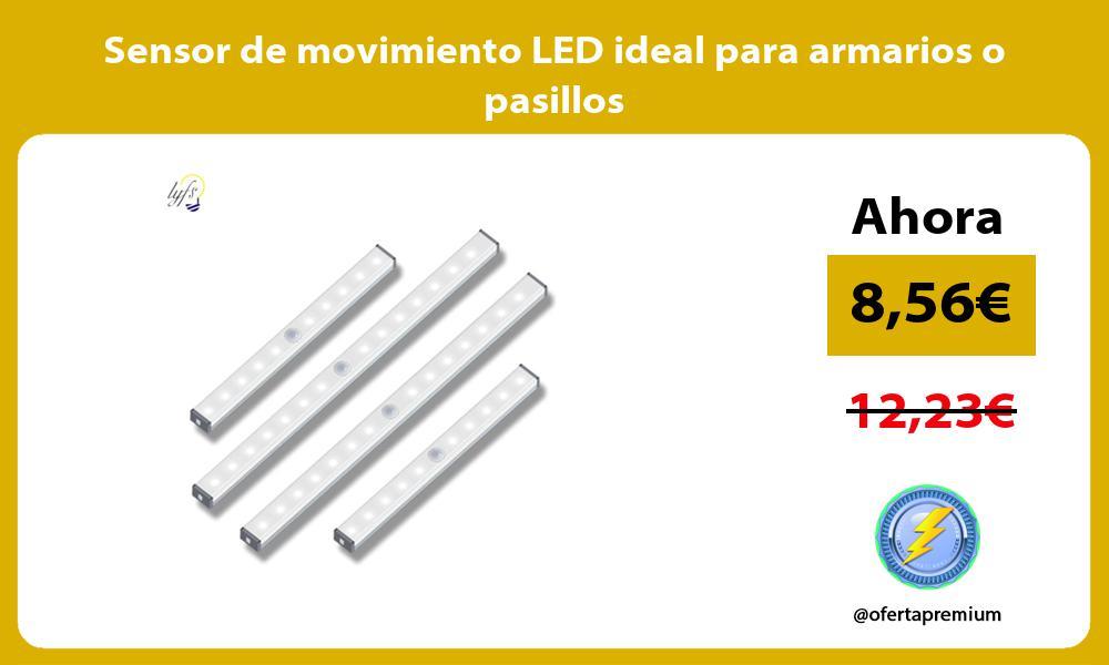 Sensor de movimiento LED ideal para armarios o pasillos
