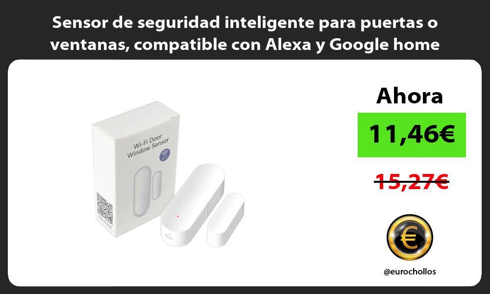 Sensor de seguridad inteligente para puertas o ventanas compatible con Alexa y Google home