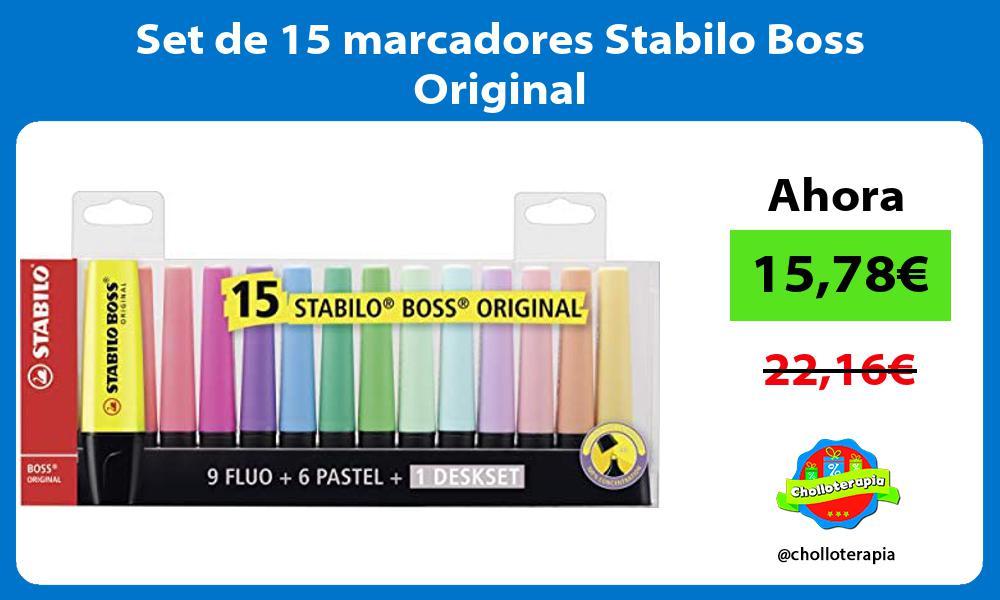Set de 15 marcadores Stabilo Boss Original
