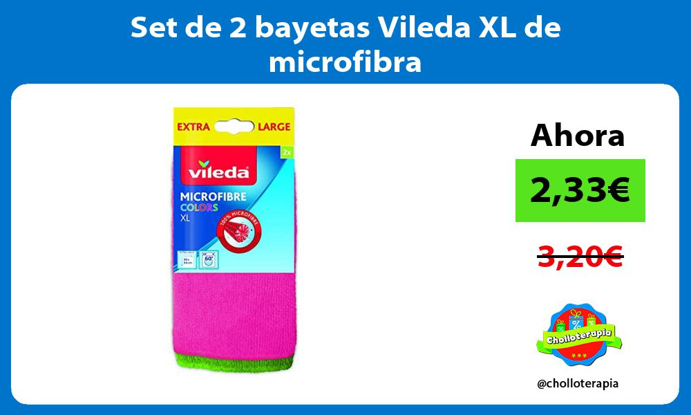 Set de 2 bayetas Vileda XL de microfibra